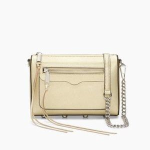 Rebecca minkoff avery cross body bag in gold